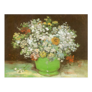 Vase with Zinnias and Flowers by Vincent van Gogh Postcard