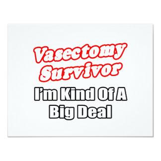 Vasectomy Survivor...Big Deal 4.25x5.5 Paper Invitation Card