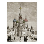 Vasili Cathedral Red Square Onion Dome Theotokos Postcard