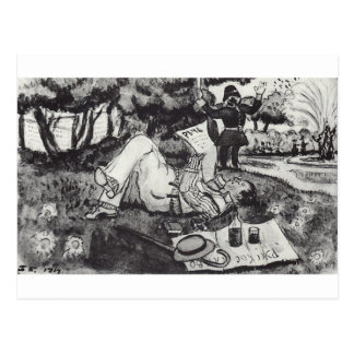 Vasiliy Luzhsky on vacation in London's Hyde Park Postcard