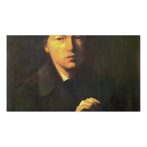 Vasily Perov- Portrait of Nikolai Kridener Business Card Template