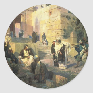 Vasily Polenov- A depiction of Jesus and the woman Sticker