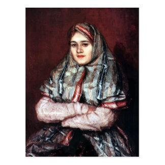 Vasily Surikov-Portrait of Alexandra I Post Cards