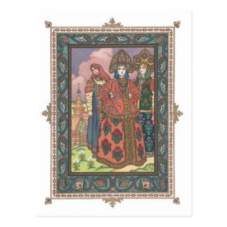 Vassilissa the Beautiful Russian Folktale Postcard