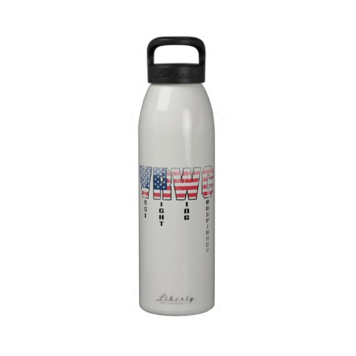 Vast Right Wing Conspiracy Faded.png Water Bottle
