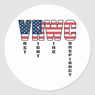 Vast Right Wing Conspiracy Round Sticker