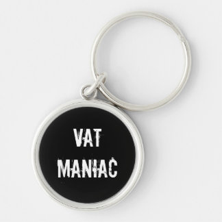VAT Advisor Specialist Rude Nickname Silver-Colored Round Key Ring