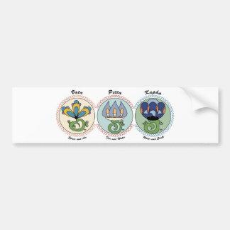 Vata-Pitta-Kapha Bumper Sticker