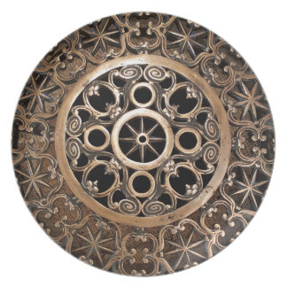 Vatican ancient metal bronze steampunk mysterious plate