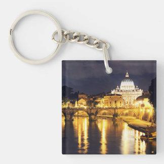 Vatican Bridge Of Angels Single-Sided Square Acrylic Key Ring