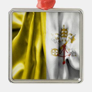 Vatican City Flag Square Metal Ornament