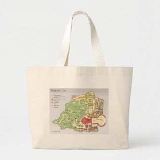 Vatican City Layout Diagram Map Tote Bags