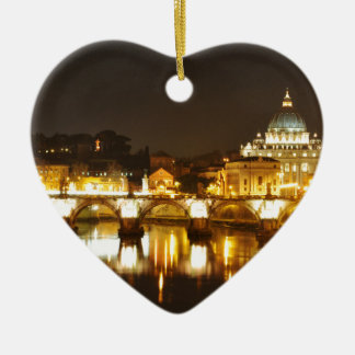 Vatican city, Rome, Italy at night Christmas Ornament