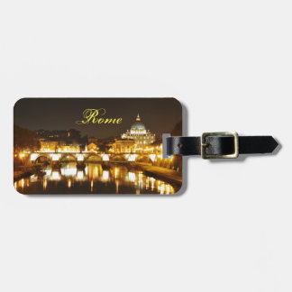 Vatican city, Rome, Italy at night Luggage Tag