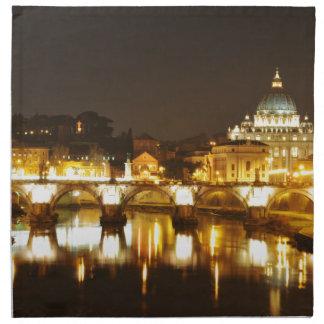 Vatican city, Rome, Italy at night Napkin