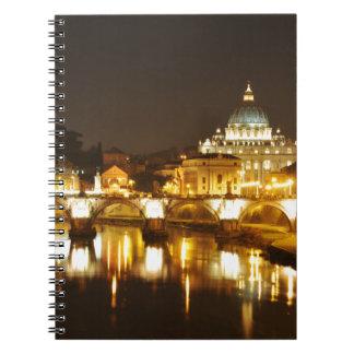 Vatican city, Rome, Italy at night Notebooks