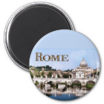 Vatican City Seen from Tiber River text   ROME 6 Cm Round Magnet