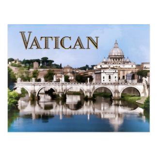 Vatican City Seen from Tiber River text   VATICAN Postcard