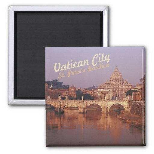 Vatican City St Peters Twilight Fridge Magnet