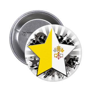 Vatican City Star 6 Cm Round Badge
