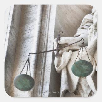 Vatican City statue Square Sticker