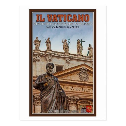 Vatican City Statues Postcards