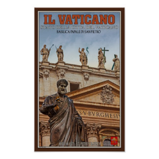 Vatican City Statues Poster
