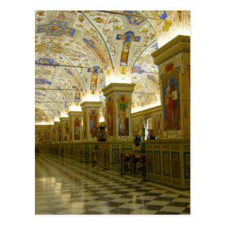 vatican museum hall postcard