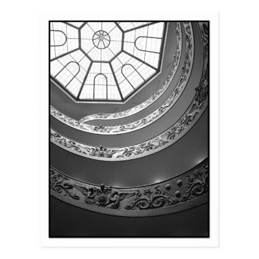 Vatican Museum Spiral Staircase Postcard Postcard