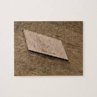 Vatican Museums sign, Rome, Italy Jigsaw Puzzle