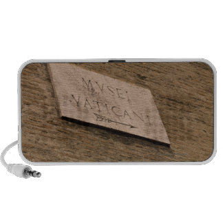 Vatican Museums sign, Rome, Italy Notebook Speaker