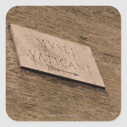 Vatican Museums sign, Rome, Italy Stickers