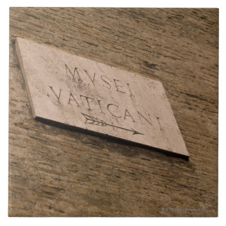 Vatican Museums sign, Rome, Italy Tile