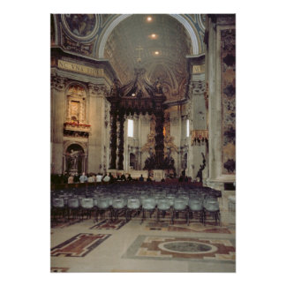 Vatican Pope in the gallery of St Peter s Posters
