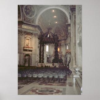 Vatican Pope John Paul II in the gallery Print