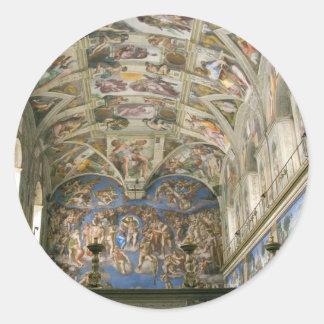 Vatican Sistine Chapel Classic Round Sticker