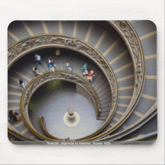 Vatican stairway to heaven Rome Italy Mouse Pads