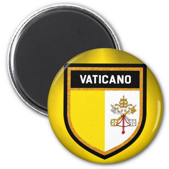 Vaticano Flag 6 Cm Round Magnet