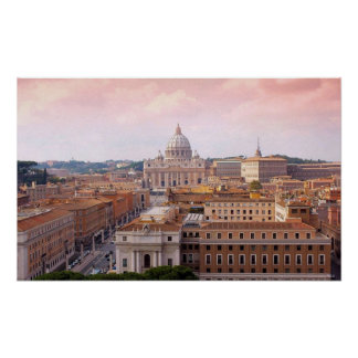 Vaticano San Pietro Roma Poster