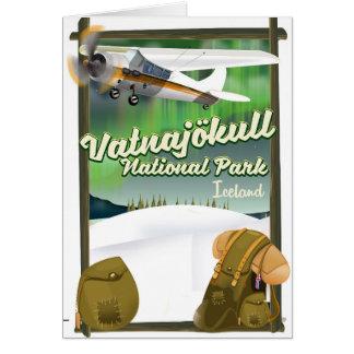 Vatnajökull National Park Iceland Card