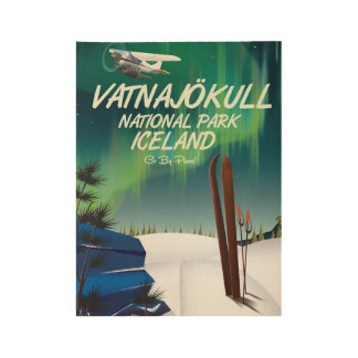 Vatnajökull National Park Iceland travel poster