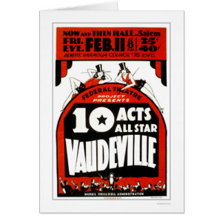 Vaudeville All Star 1938 WPA Greeting Card