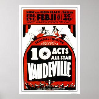Vaudeville All Star 1938 WPA Print