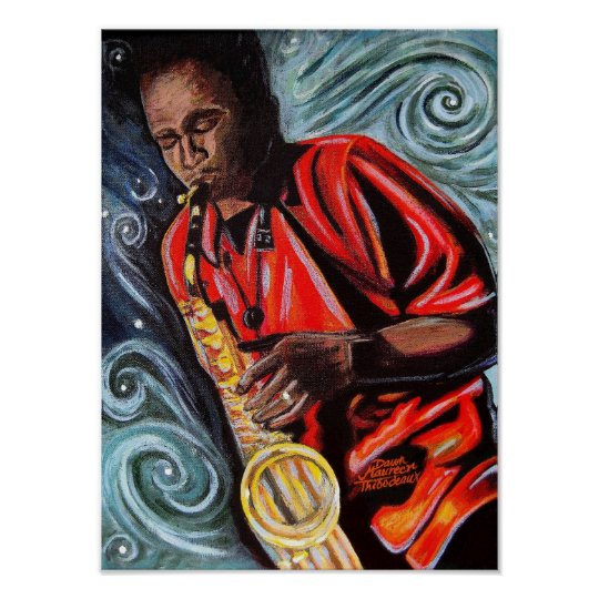 Vaughn and his Sax Poster