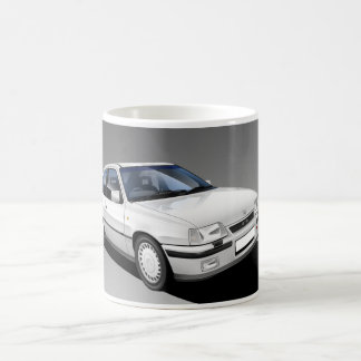 Vauxhall Astra GTE Classic Car Illustrated Mug (W)