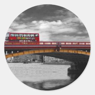 Vauxhall Bridge Thames London Round Sticker