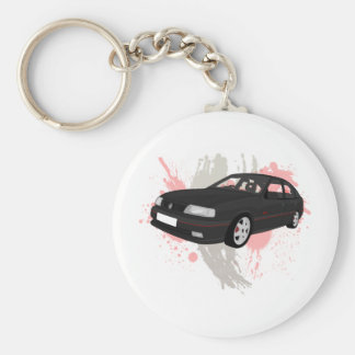 Vauxhall Cavalier SRI Basic Round Button Key Ring