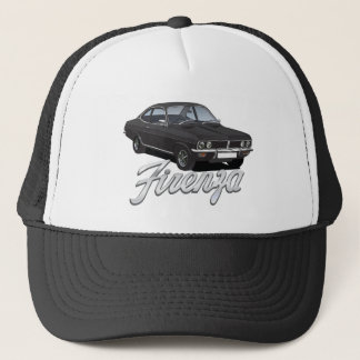 Vauxhall Firenza black with text Trucker Hat