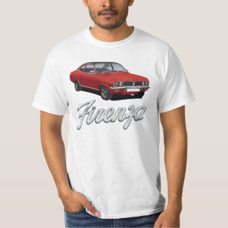 Vauxhall Firenza red, black roof with text T-Shirt