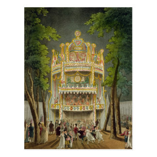 Vauxhall gardens, 1808 postcard